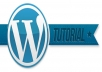 provide Wordpress site tutorials