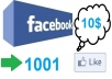 get you 1001 Genuine Facebook Fans on your Facebook page