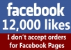 add 12,000 Permanent Facebook likes to any website / webpage