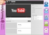 create an amazing youtube background channel design