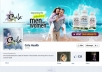 design 5 professional, eye catching and quality Facebook covers for you