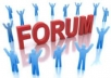 create Forum Post Backlinks 500 domain