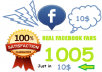 provide 1005 Real Facebook Fans on Facebook page