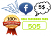 provide 505 Real Facebook Fans on Facebook page