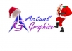 put santa hat on your logo and also place santa with gifts with your logo for christmas
