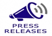write a unique Press Release which will be Seo Optimized by Top Softwares and submit it to 3 Press Release Directories of PR 3+