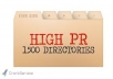 submit your site to 1500 High PR web directories