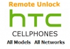 send you an UNLOCK code for htc, any model, any company, in 24 hours with just your imei code