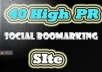 manually give your website 40 top PR3 PR8 social bookmarks