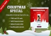 give you Christmas Landing Page  Now Make Money With Christmas