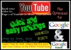 get u FREE Targeted Traffic by ranking ur video on Page 1 of YouTube Guaranteed The Best Youtube Video Seo n Advertising Service