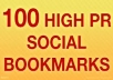 submit your website or url to 100 +Social Bookmarking site