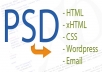 convert psd file to html file website