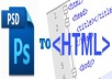 convert your psd file into html css