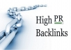 create 40 to 48 PR9 PR8 PR7 Extreme Quality BACKLINKS and Ping on Powerful Sites Page in only 24 hours