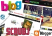 design an attractive blog for your needs or modify an existing one