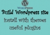 make wordpress site