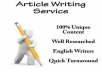 Get 100% unique content without any grammatical issues as well as keyword based content.