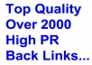 create over 2000 Top Quality Back Links for your Website