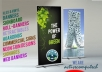 design an attractive poster, roll banner, signage, billboard, expo display, billboard or outdoor banner