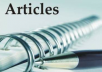 write an original article on any subject you wish