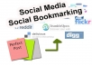 manually submit your Website in 100 high PR Social Bookmarking websites and give you a full Report for