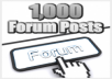 create 1200+ high pr dofollow backlinks from forum posts, supply report + submit to linklicious pro