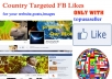 give you TARGETED 150+ Unique Real Facebook Page Likes