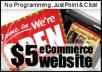 create an online shopping cart website