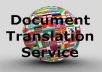 translate your document no matter the size to any language of your choice