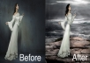 retouch photos,remove background,manipulate or do any kind of photoshop work professionally in photoshop according to your preference
