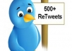 give 500 REAL retweets to your link follow you and tweet it to an extra 370k followers with proof