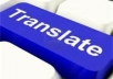 translate English text into Chinese and Chinese text into English