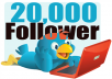 add 20000  twitter followers with 24 hours