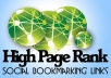 do ★ manually ★ 35 High PR4 to PR8 social bookmarks for your site+ Report