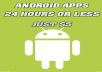 make  your own Android apps for your professional business website,  video or blog
