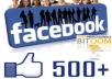 give 500 Real and Active FACEBOOK likes/fans on your our facebook fans page just