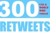 deliver 300 real Retweets from US worldwide users strong effective social signals