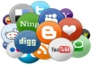 manually submit your site to 200 Social Bookmarking sites