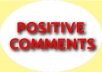 post a positive reveiws/comments for your blog