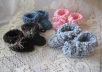 crochet these handmade baby booties