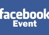 invite 5000+ 100percent real USA people to your Facebook Event within 24 hours