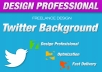 create a PROFESSIONAL twitter or youtube Facebook background image and include psd free