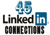add guaranteed 45 Linkedin Connections within 24 hrs