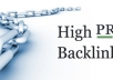 provide 120 High PR Lifetime DoFollow Backlinks to your site homepage or inner page Url