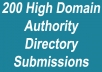 submit manually your homepage or inner page url to 175 quality online directories with page ranks 2 to 6
