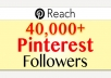 repin 10 of your images on Pinterest to over 40,000 of my dedicated followers in less than 24 hours