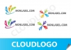 create logo for you with 2 samples logo PLUS 2 versions color for each