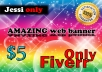 create Your Brand new  Web Banner,Healder in 48hrs