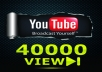 give your YouTube Video Over 40000 Unique Real Views 50 Likes and 50 Subscribers